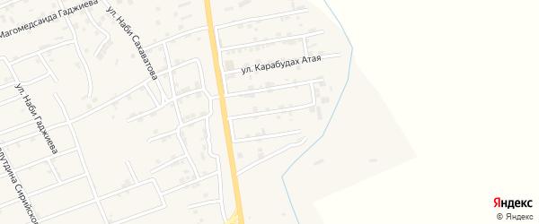 Улица Низамутдина Казиева на карте села Карабудахкента с номерами домов