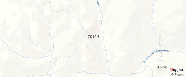 Карта села Ураги в Дагестане с улицами и номерами домов