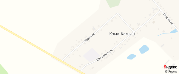 Новая улица на карте деревни Кзыла-Камыша с номерами домов