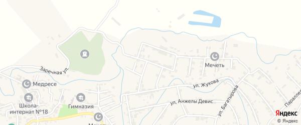 Сергендираульская 1-я улица на карте села Карабудахкента с номерами домов