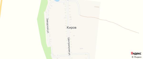Овражная улица на карте поселка Кирова с номерами домов