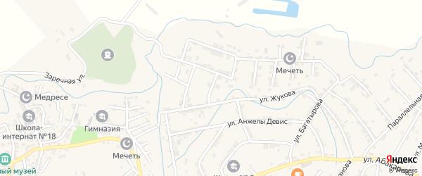Улица Воинов Афганцев на карте села Карабудахкента с номерами домов