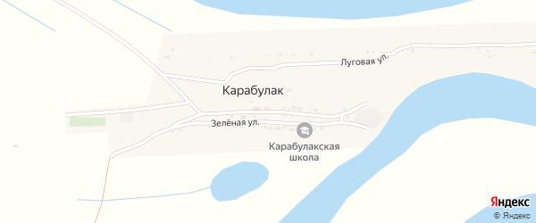 Центральная улица на карте поселка Карабулака с номерами домов