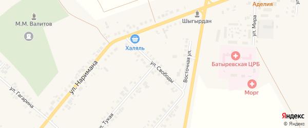 Улица Свободы на карте села Шыгырдана с номерами домов