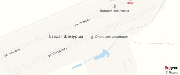 Улица Чкалова на карте деревни Старой Шемурши с номерами домов