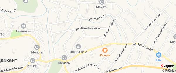Улица Жуковского на карте села Карабудахкента с номерами домов