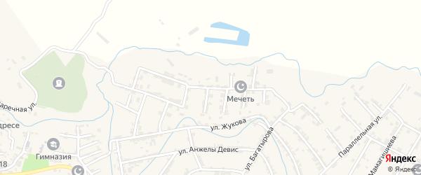 Сергендираульская 2-я улица на карте села Карабудахкента с номерами домов