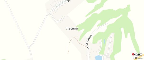 Янтиковское шоссе на карте выселков Лесного с номерами домов