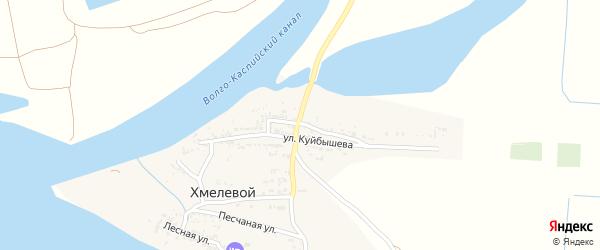 Озерная улица на карте Хмелевого поселка с номерами домов