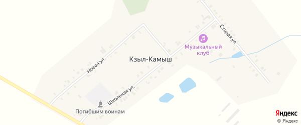 Старая улица на карте деревни Кзыла-Камыша с номерами домов