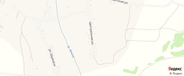 Центральная улица на карте деревни Таушкас с номерами домов