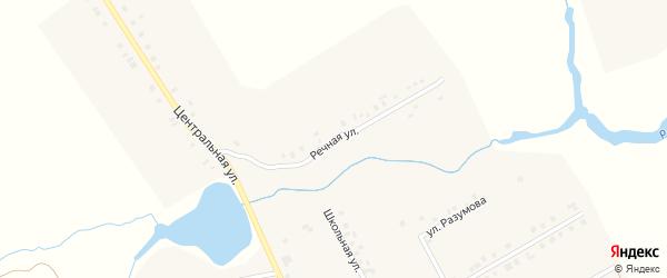 Речная улица на карте села Новочелны-Сюрбеево с номерами домов