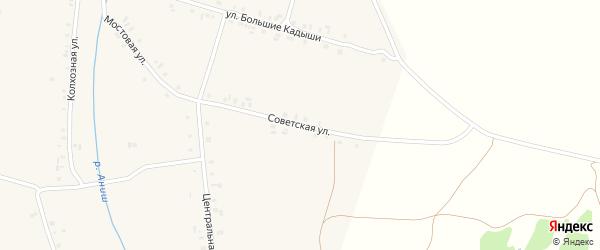 Советская улица на карте деревни Таушкас с номерами домов