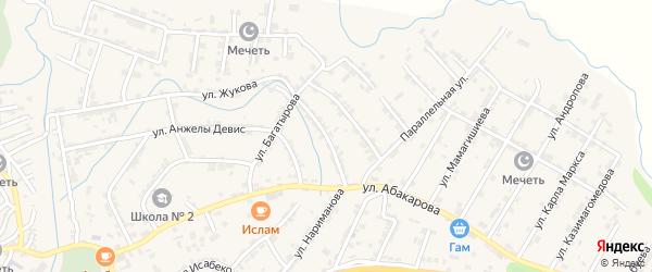 1-я Параллельная улица на карте села Карабудахкента с номерами домов