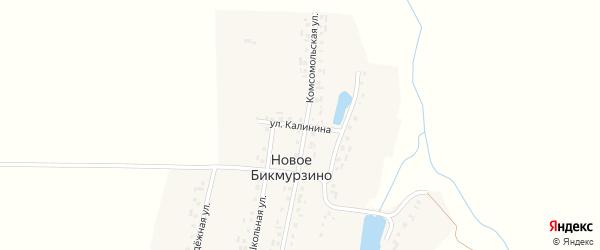 Улица Калинина на карте деревни Новое Бикмурзино с номерами домов