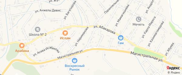 Улица Ворошилова на карте села Карабудахкента с номерами домов