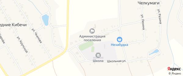 Улица Гагарина на карте деревни Средние Кибечи с номерами домов