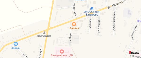 Улица Мира на карте села Батырево с номерами домов