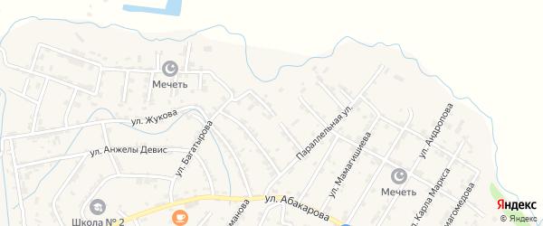 2-я улица на карте села Карабудахкента с номерами домов