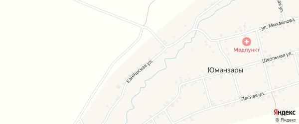 Канашская улица на карте деревни Юманзаров с номерами домов
