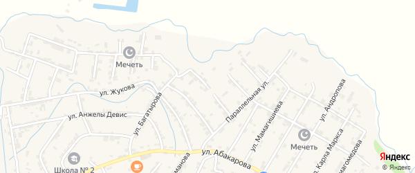 2-я Параллельная улица на карте села Карабудахкента с номерами домов