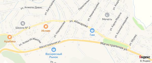 Улица Лещинского на карте села Карабудахкента с номерами домов