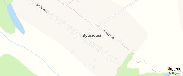 Новая улица на карте деревни Вурмеры с номерами домов