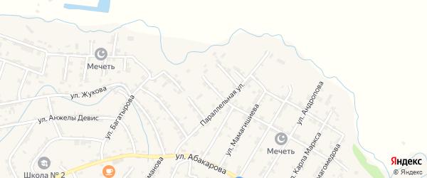 3-я Параллельная улица на карте села Карабудахкента с номерами домов
