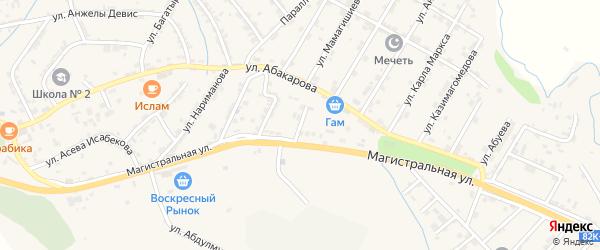 Улица Энгельса на карте села Карабудахкента с номерами домов