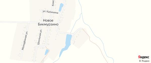 Заовражная улица на карте деревни Новое Бикмурзино с номерами домов