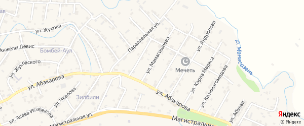Улица Мамагишиева на карте села Карабудахкента с номерами домов