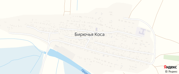 Набережная улица на карте села Бирючьей Коса с номерами домов