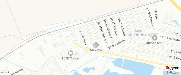 Улица Чкалова на карте Кирпичного поселка с номерами домов