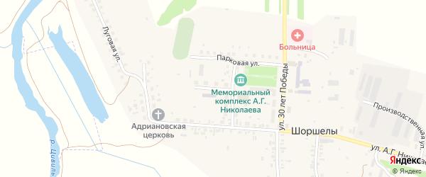 Улица 30 лет Победы на карте села Шоршел с номерами домов