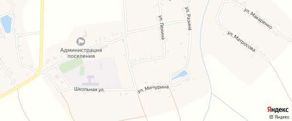 Улица Ломоносова на карте деревни Челкумаги с номерами домов