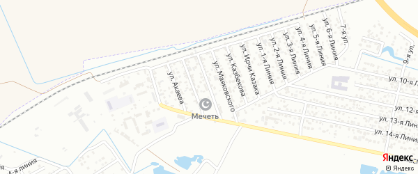 Улица Островского на карте Кирпичного поселка с номерами домов