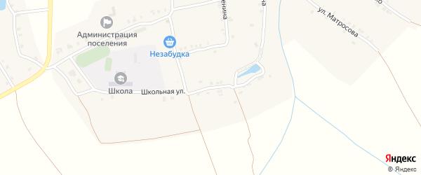 Улица Мичурина на карте деревни Челкумаги с номерами домов