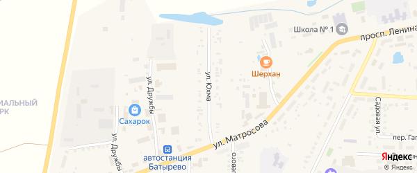 Улица Юхма на карте села Батырево с номерами домов