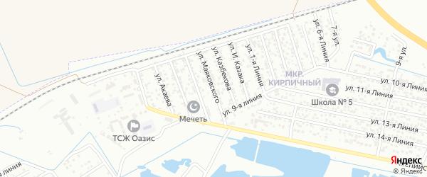 Улица Маяковского на карте Кирпичного поселка с номерами домов