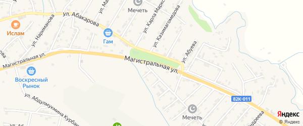 Магистральная улица на карте села Карабудахкента с номерами домов