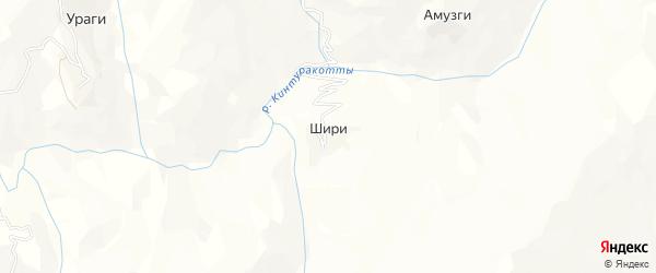 Карта села Шири в Дагестане с улицами и номерами домов