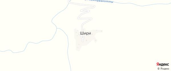 Дачная улица на карте села Шири с номерами домов