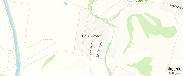 Карта деревни Ельниково в Чувашии с улицами и номерами домов
