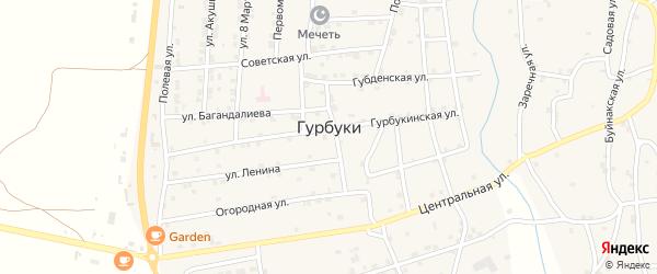 Буйнакская улица на карте села Гурбуки с номерами домов