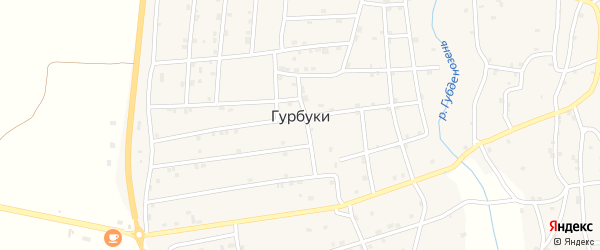 Цветочная улица на карте села Гурбуки с номерами домов