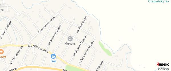 Улица Коркмасова на карте села Какашуры с номерами домов