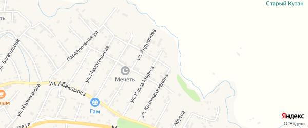 Улица Коркмасова на карте села Карабудахкента с номерами домов