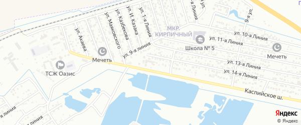 Улица Линия 2 на карте микрорайона Камнеобрабат-щий з-д и Очистные сооруж-я с номерами домов