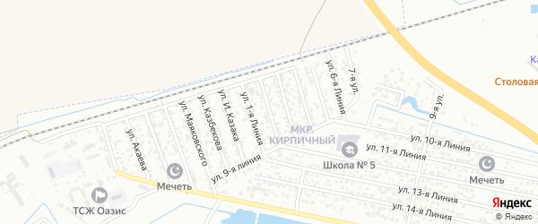 2-я линия на карте Кирпичного микрорайона с номерами домов
