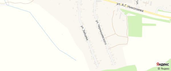 Улица Зайцева на карте села Шоршел с номерами домов